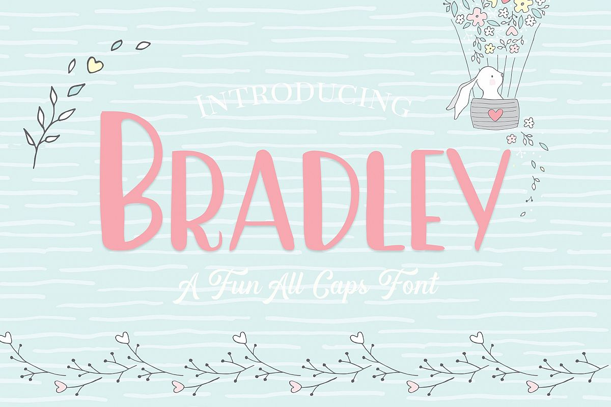 Bradley- A Fun Caps Font example image 1