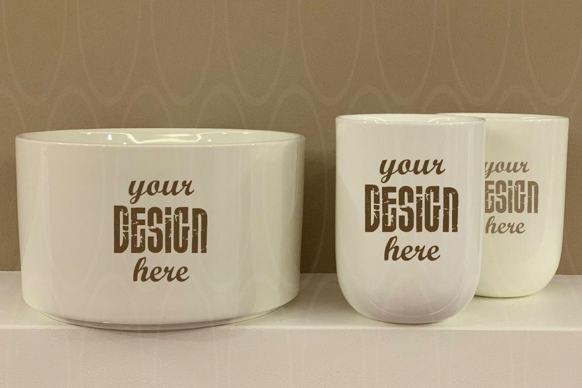 Blank Two White Coffee Cups example image 1