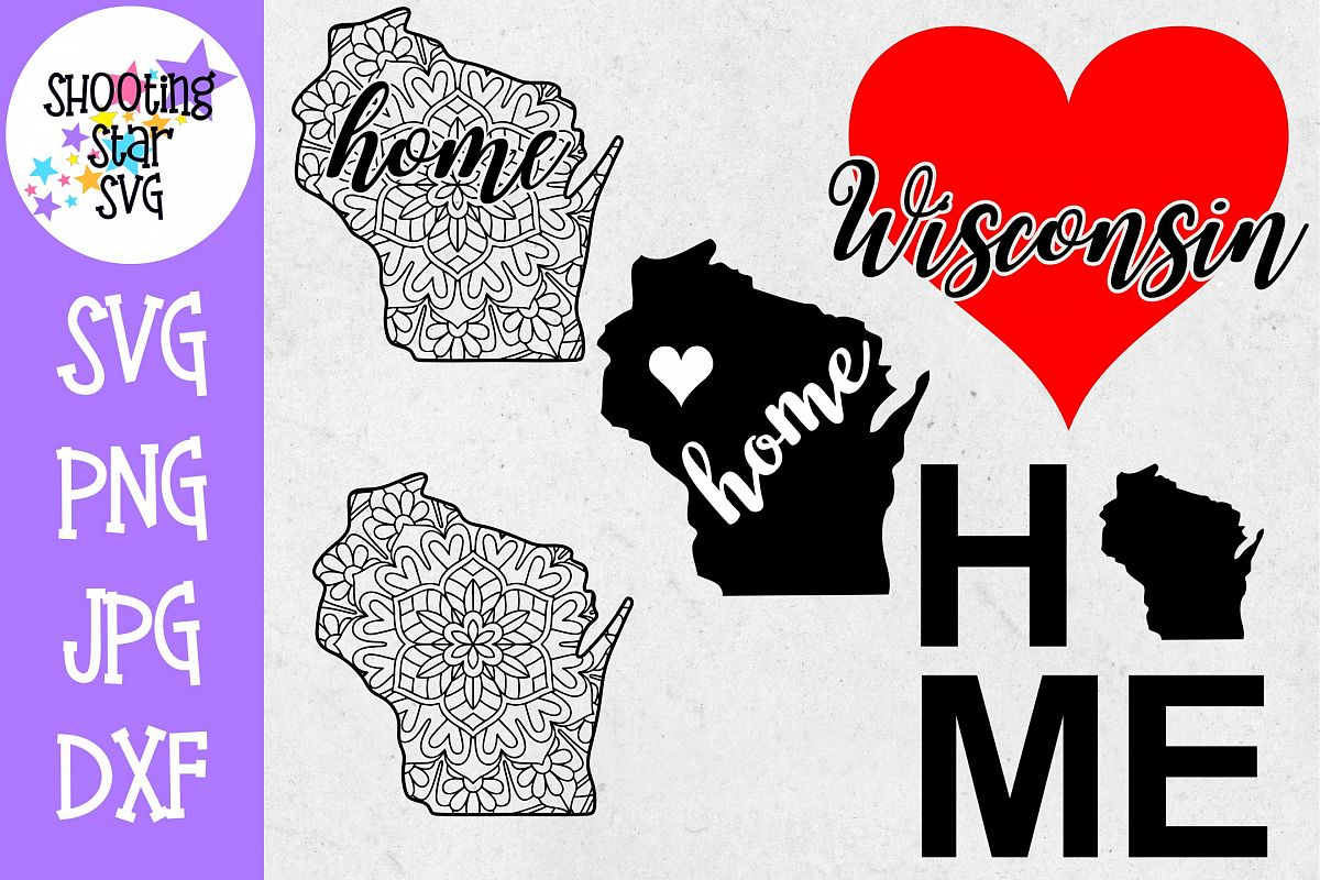 Wisconsin US State SVG Decal Bundle - 50 States SVG example image 1
