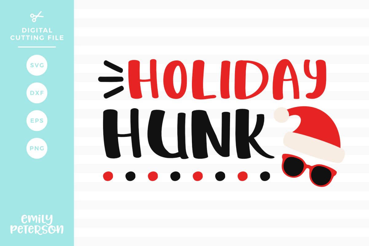 Holiday Hunk SVG DXF EPS PNG example image 1