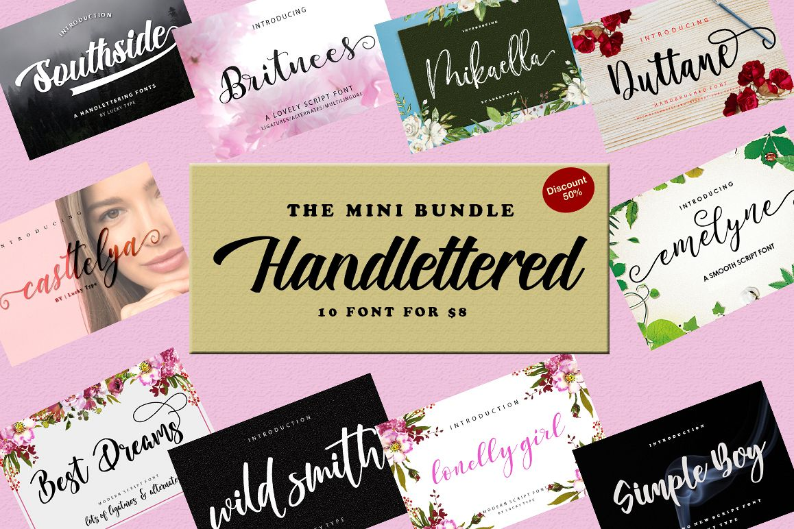 Mini Bundle Handlettered example image 1