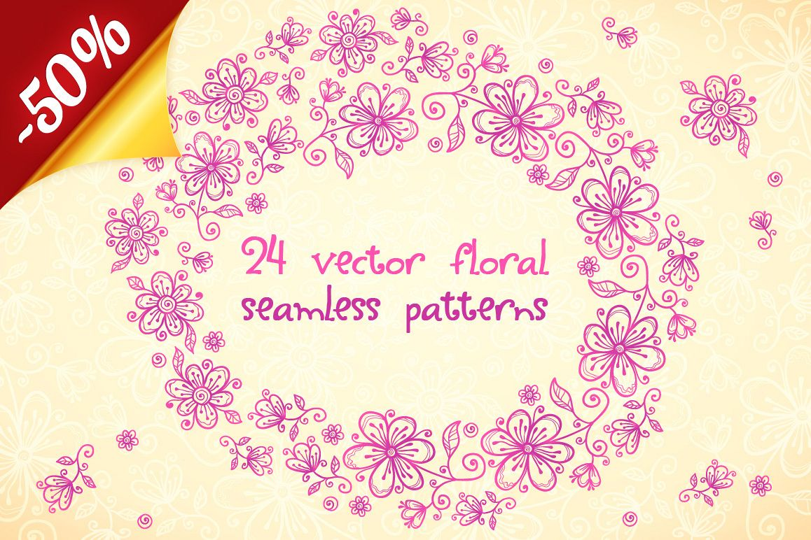 24 vector floral backgrounds example image 1