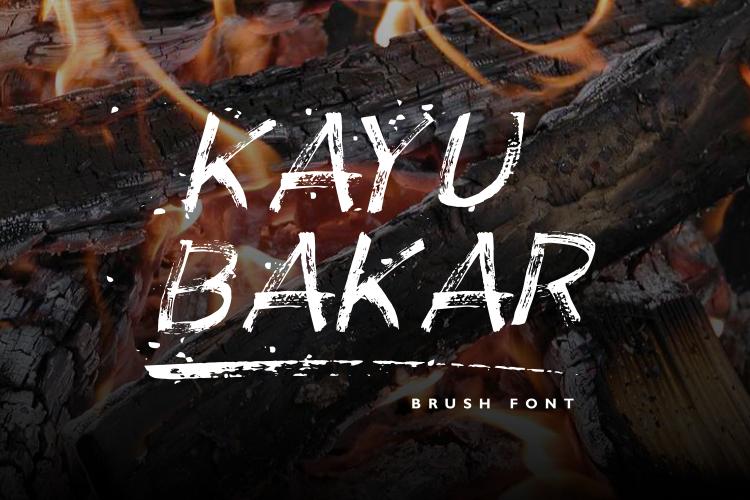 KAYU BAKAR Brush Font example image 1