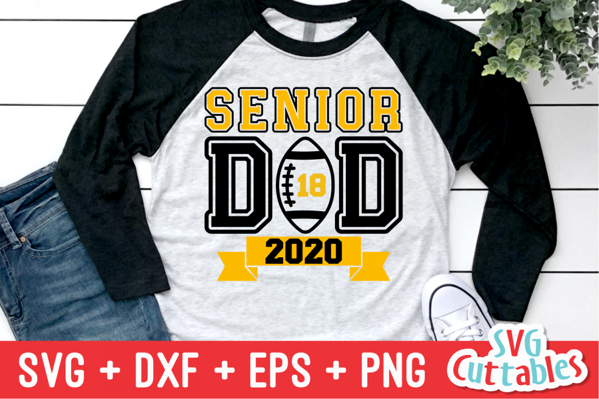 Senior Dad | Football Cut File example image 1