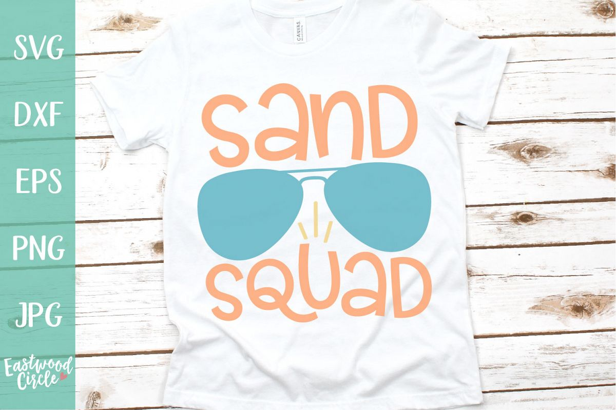 Sand Squad - A Beach SVG Cut File for Crafters example image 1