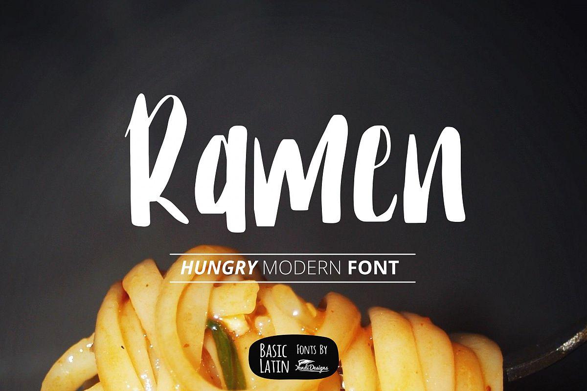 Ramen Font example image 1