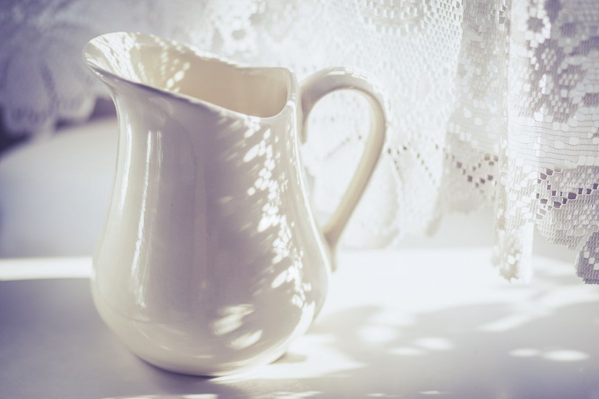 Milk Jug with Lacy Shadow - Cold Tone