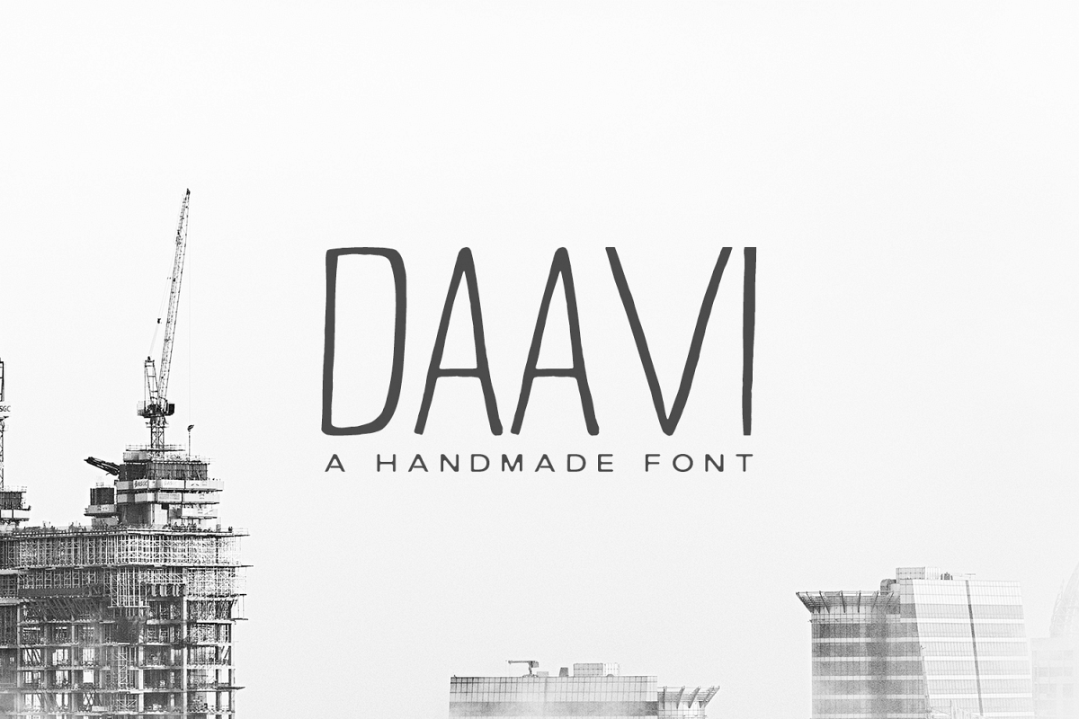 Daavi Handmade Sans Serif Font example image 1