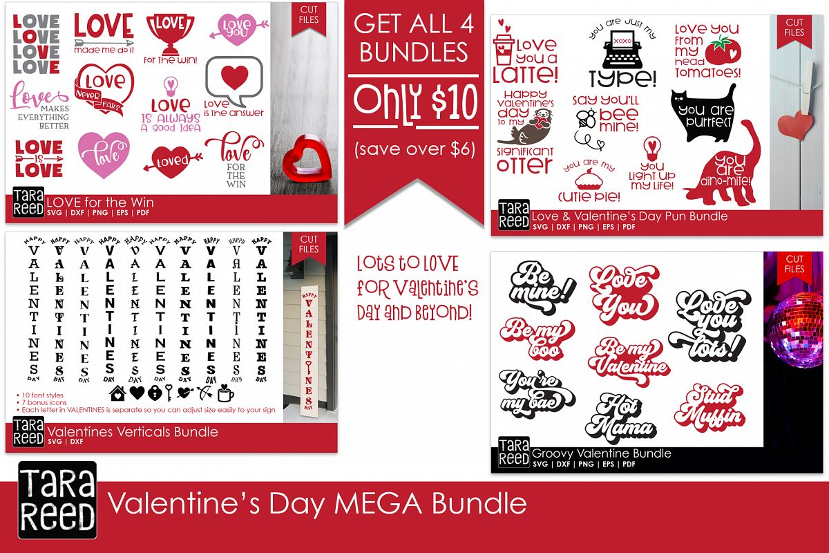 Valentines Day MEGA Bundle - SVG and Cut Files for Crafters example image 1
