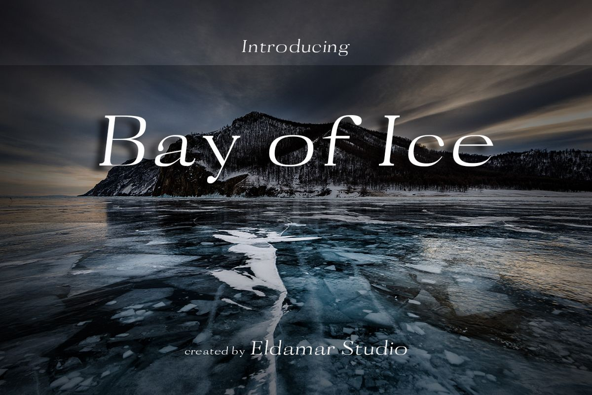 Bay of Ice Font example image 1
