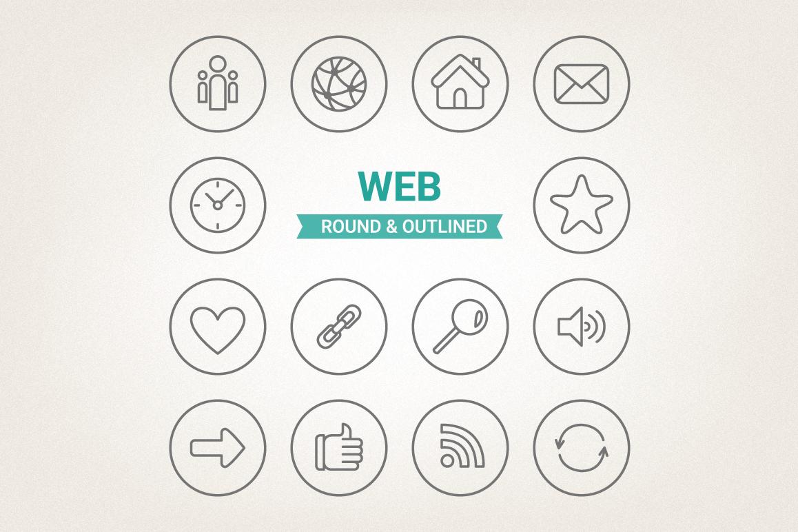 Circle Web Icons example image 1