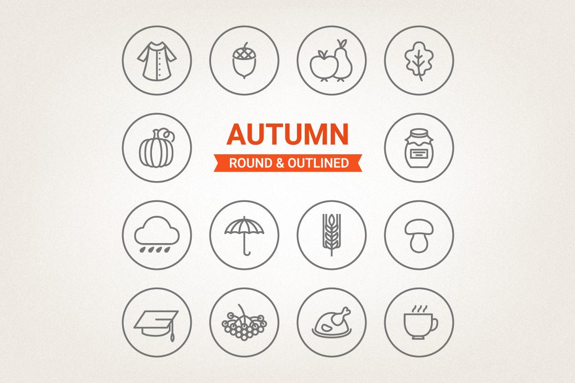 Circle Autumn Icons example image 1