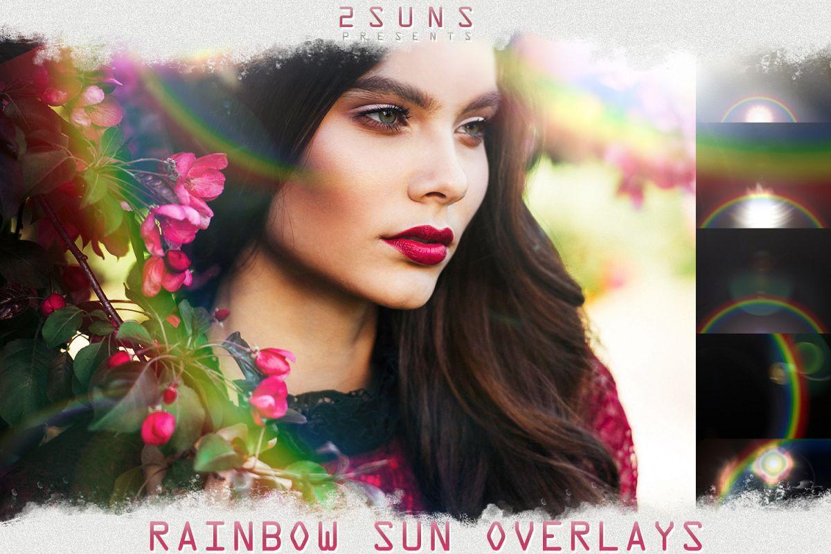 Rainbow overlays & textures, rainbow action, rainbow preset example image 1