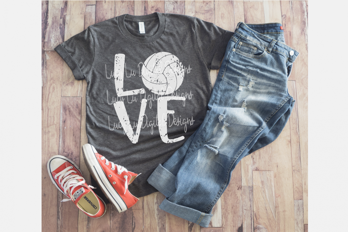 Volleyball Love - Distressed example image 1