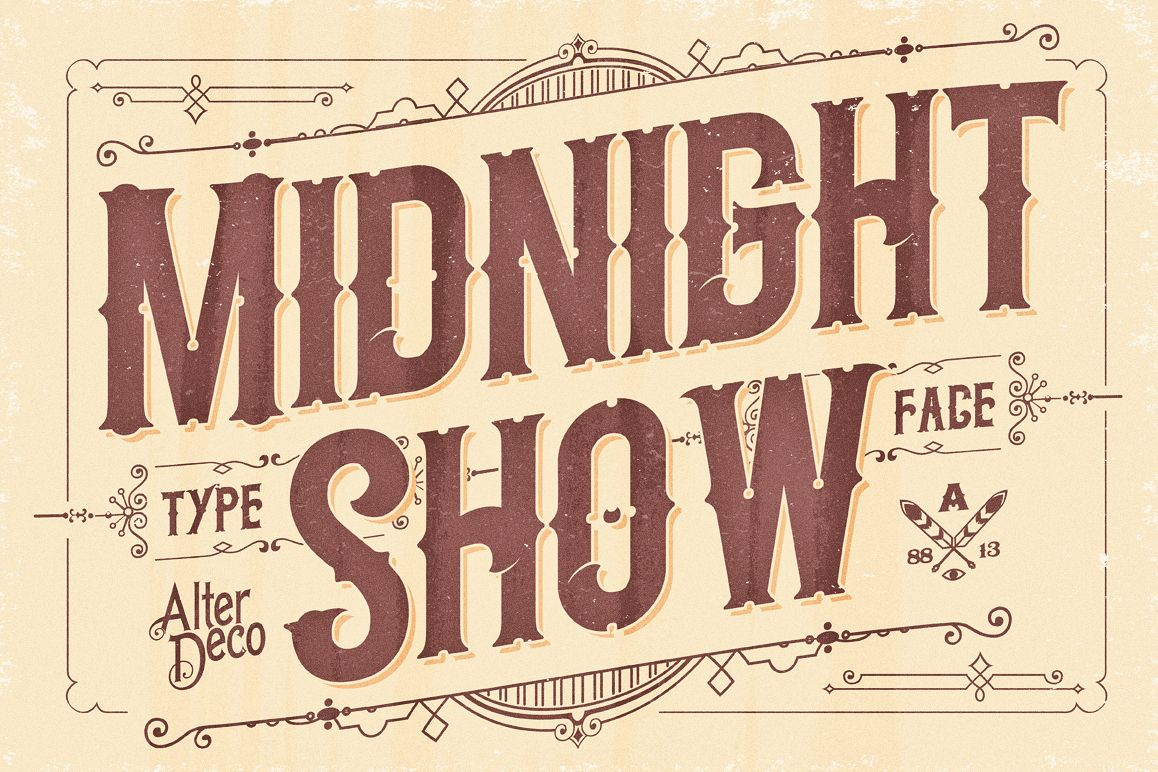 Midnight Show typeface example image 1