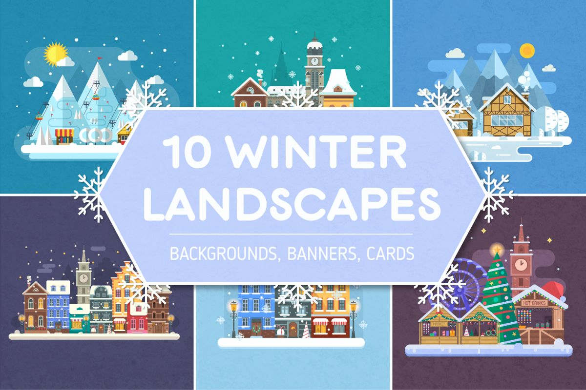 Winter Backgrounds and Landscapes example image 1