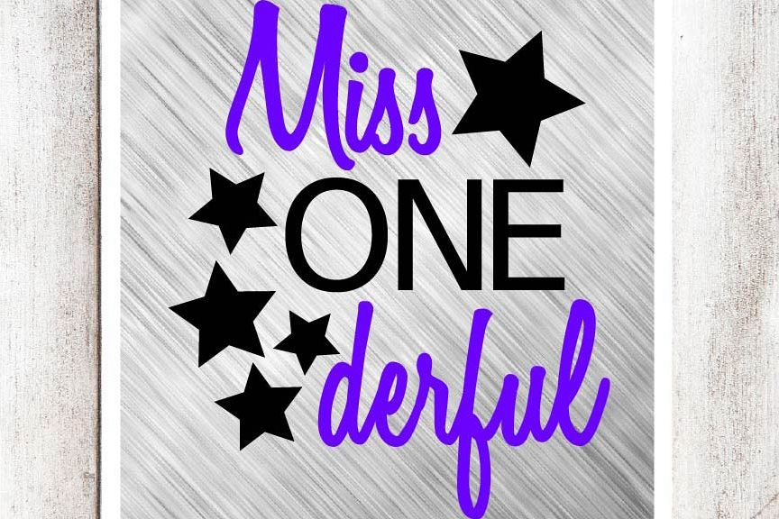 Miss One Derful SVG/DXF/EPS file example image 1
