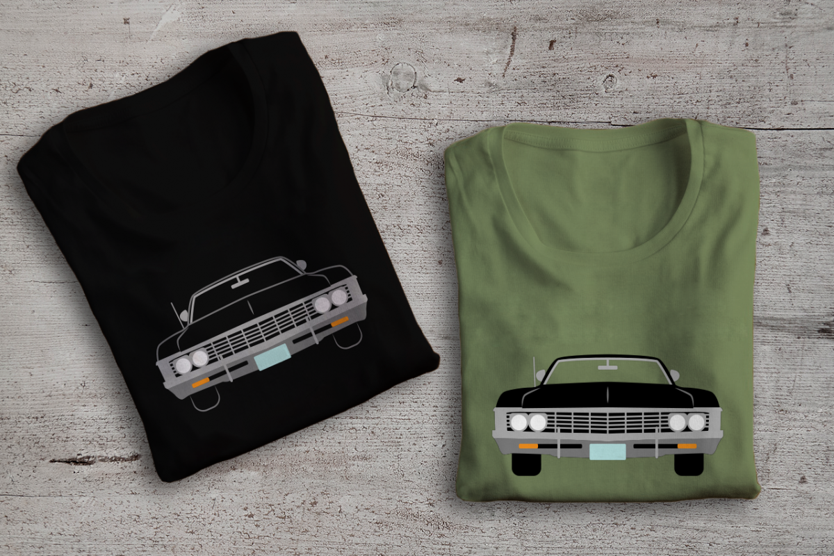 Classic Muscle Car SVG File Cutting Template example image 1