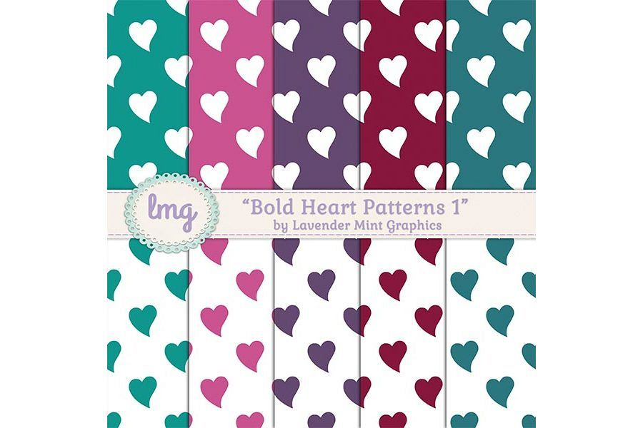 Bold Heart Patterns 1 example image