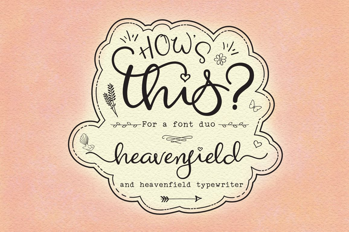 Heavenfield wedding font duo example image 1