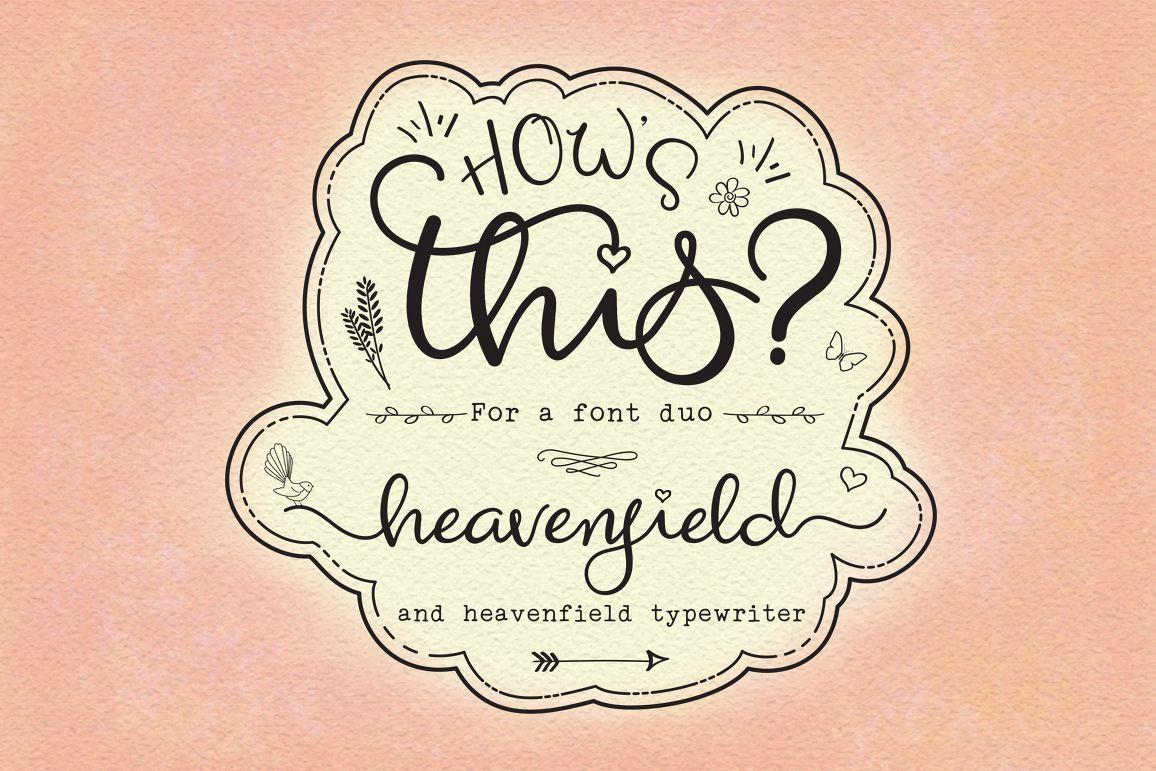 Heavenfield wedding font duo example image