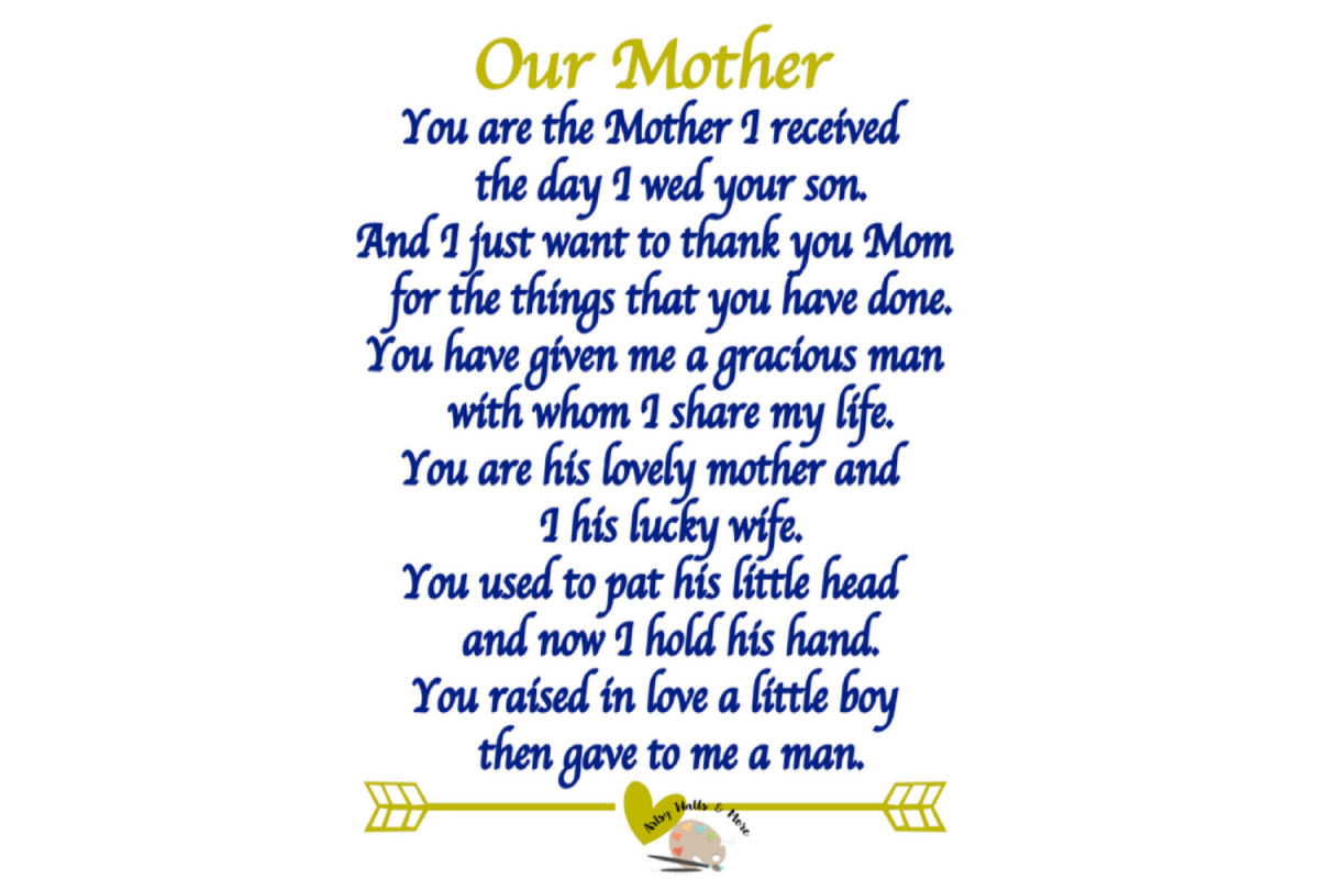 example of poem about mother