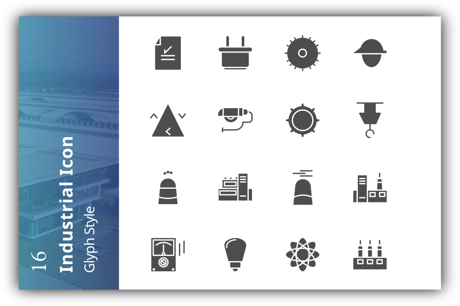 Industrial icon set v1 example image 1