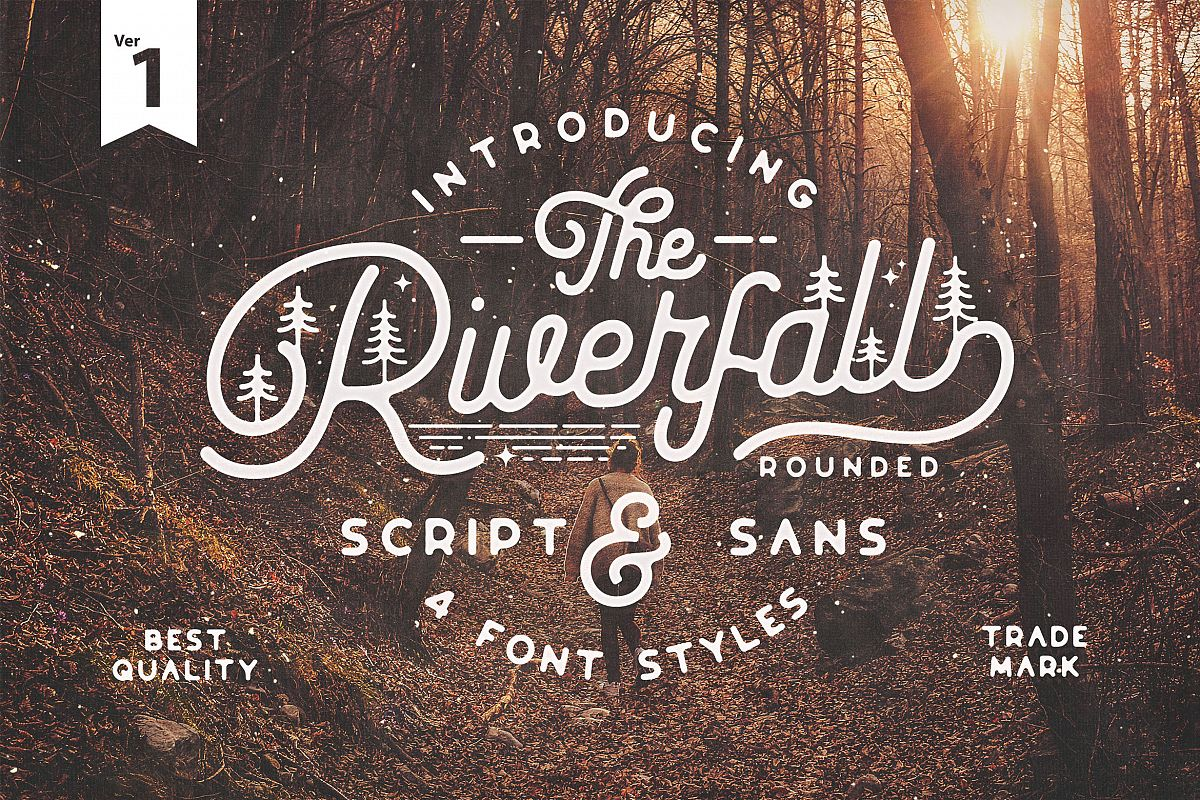 Riverfall Rounded Script and Sans 4 Typeface Ver.1 example image 1