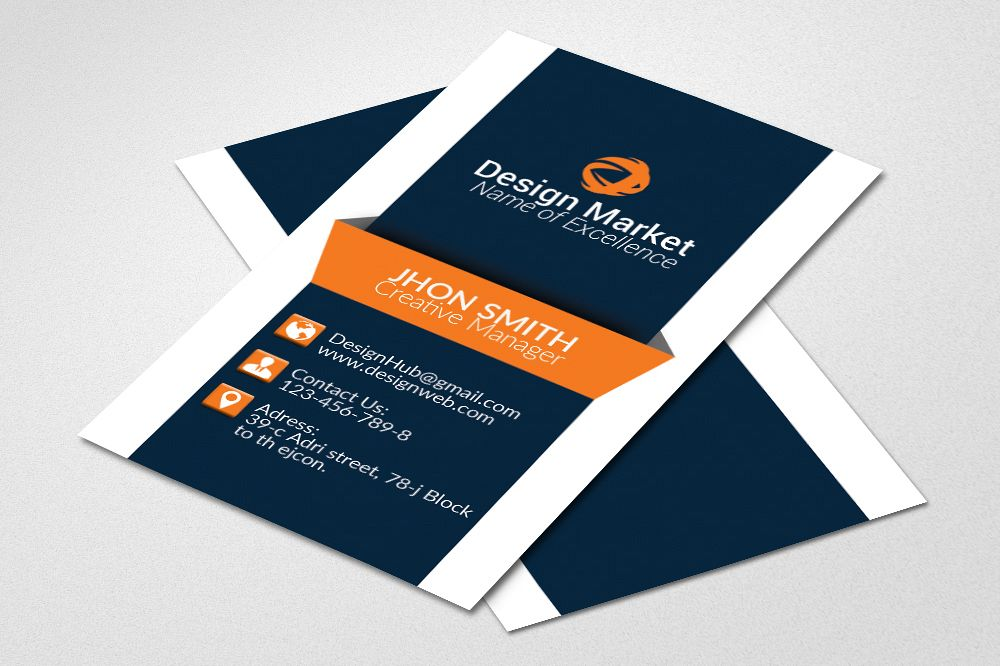 Vertical Business Cards example image 1