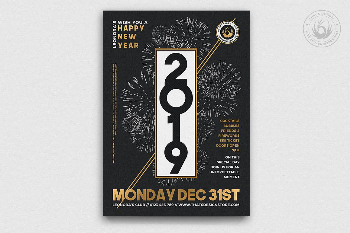 New Year Flyer Template V7