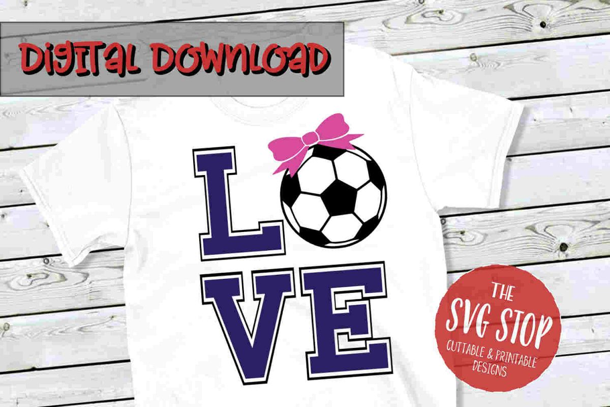 Love Soccer 2-SVG, PNG, DXF example image 1