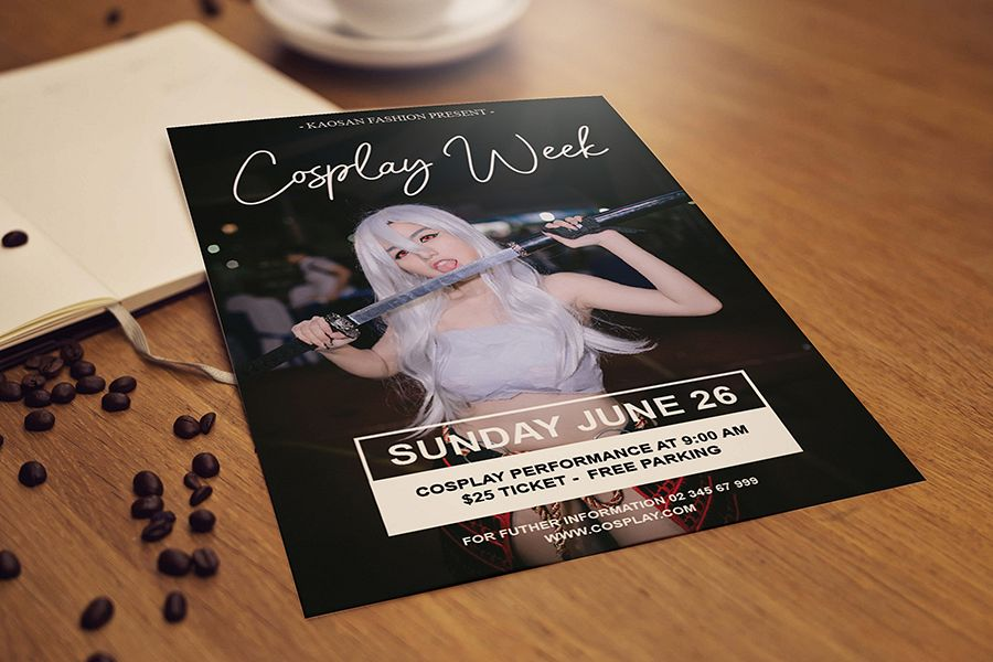 Cosplay flyer template example image 1
