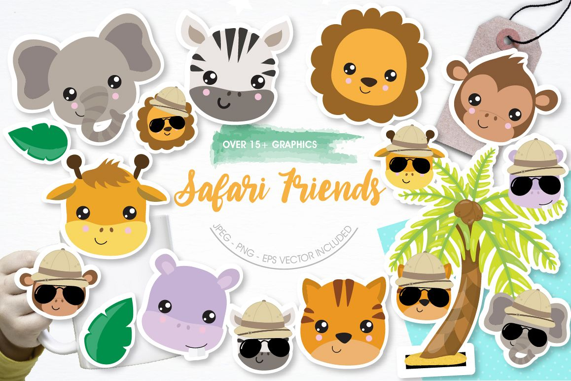 Safari Friends graphics and illustrations example image 1