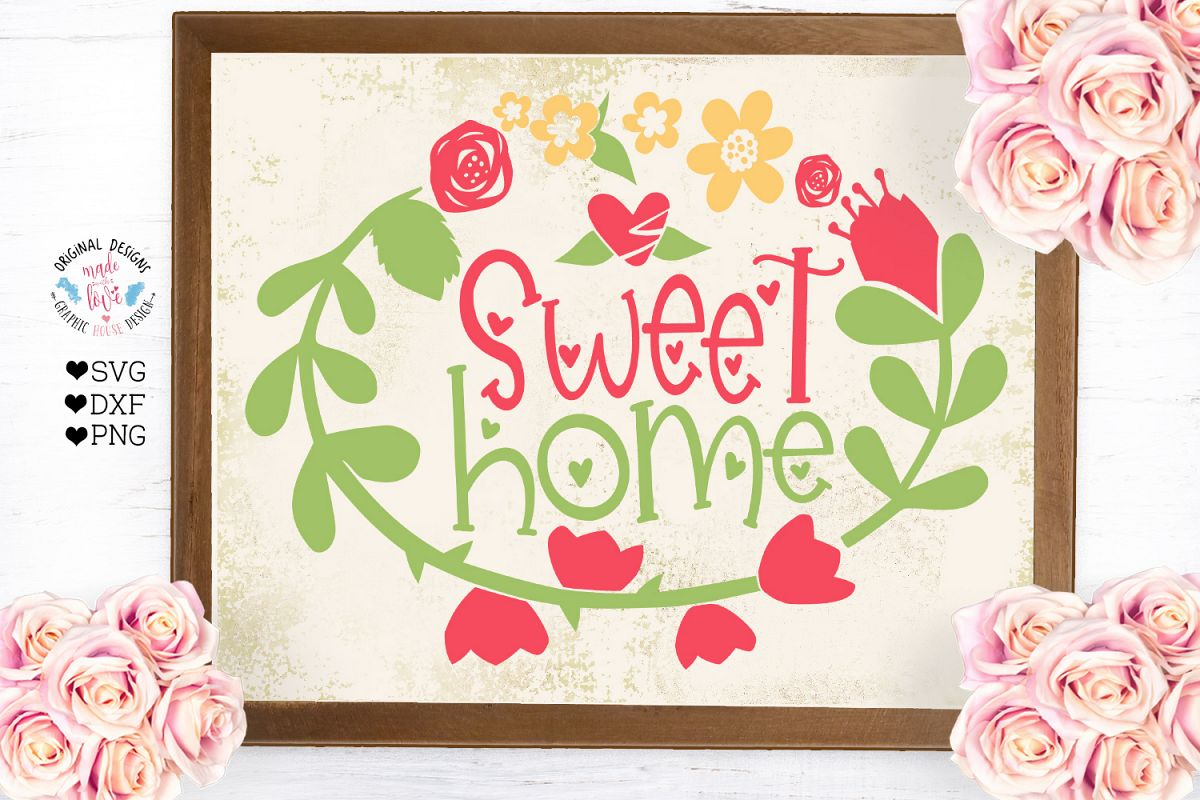 Sweet Home - Home Cut File example image 1