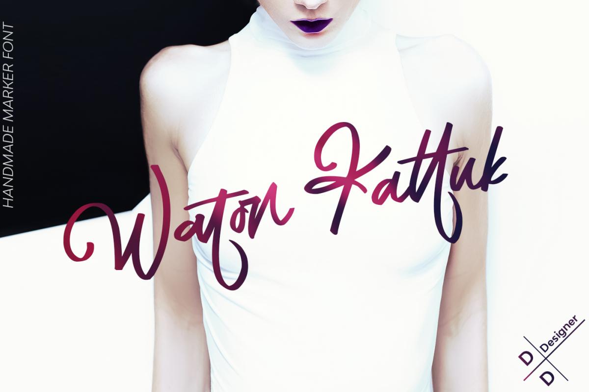 Waton Kattuk Script Font example image 1