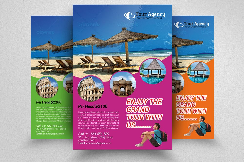 Tour & Travel Flyer Psd example image 1