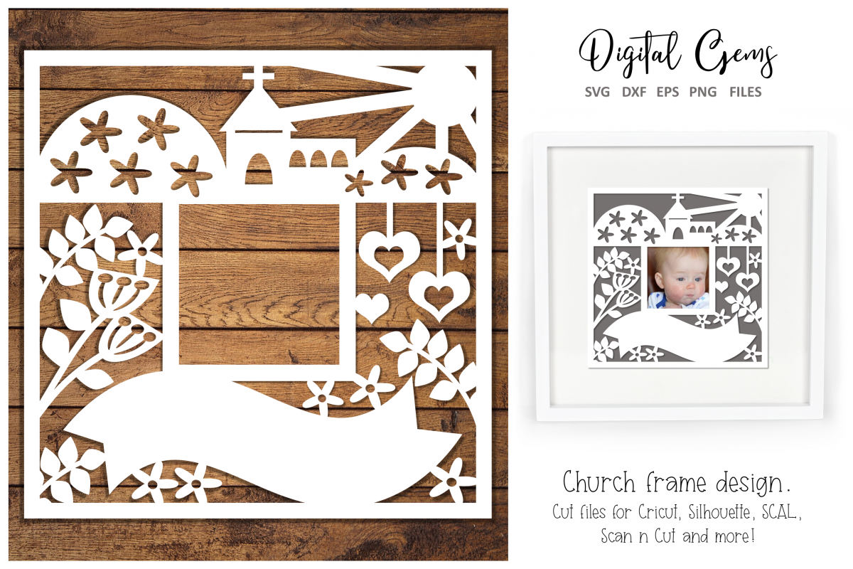 Christening / Communion / Wedding, Church frame design example image 1