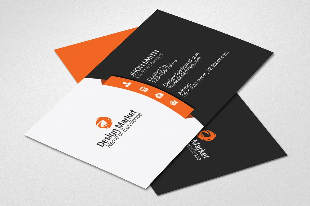 Business Cards Print Template example image 1