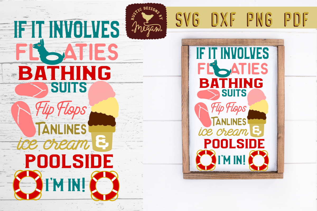 If It Involves Poolside Summer Pool SVG DXF Cut File example image 1