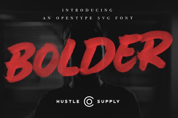 BOLDER - Smallcaps SVG Brush Font example image 1