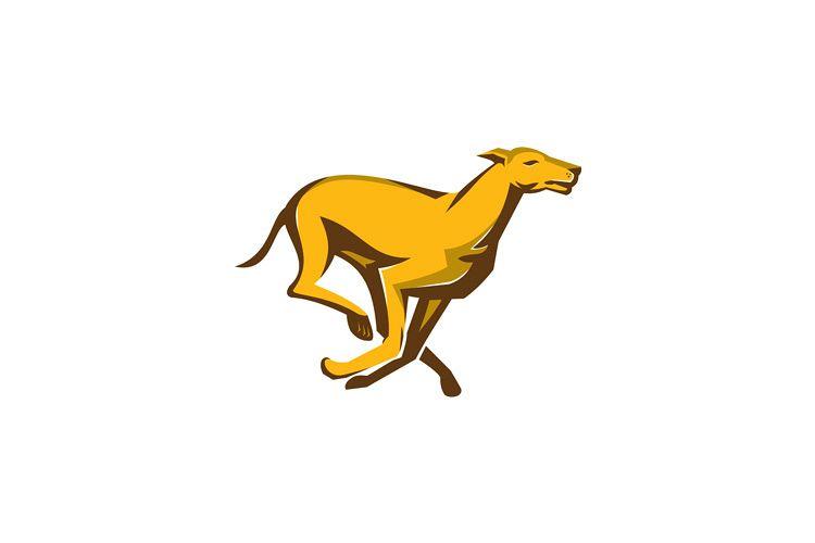 greyhound dog racing running side example image 1