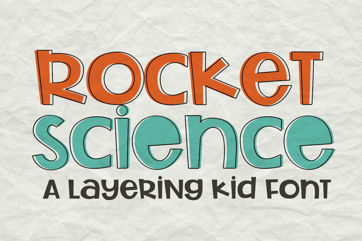 Rocket Science Layering Font example image 1