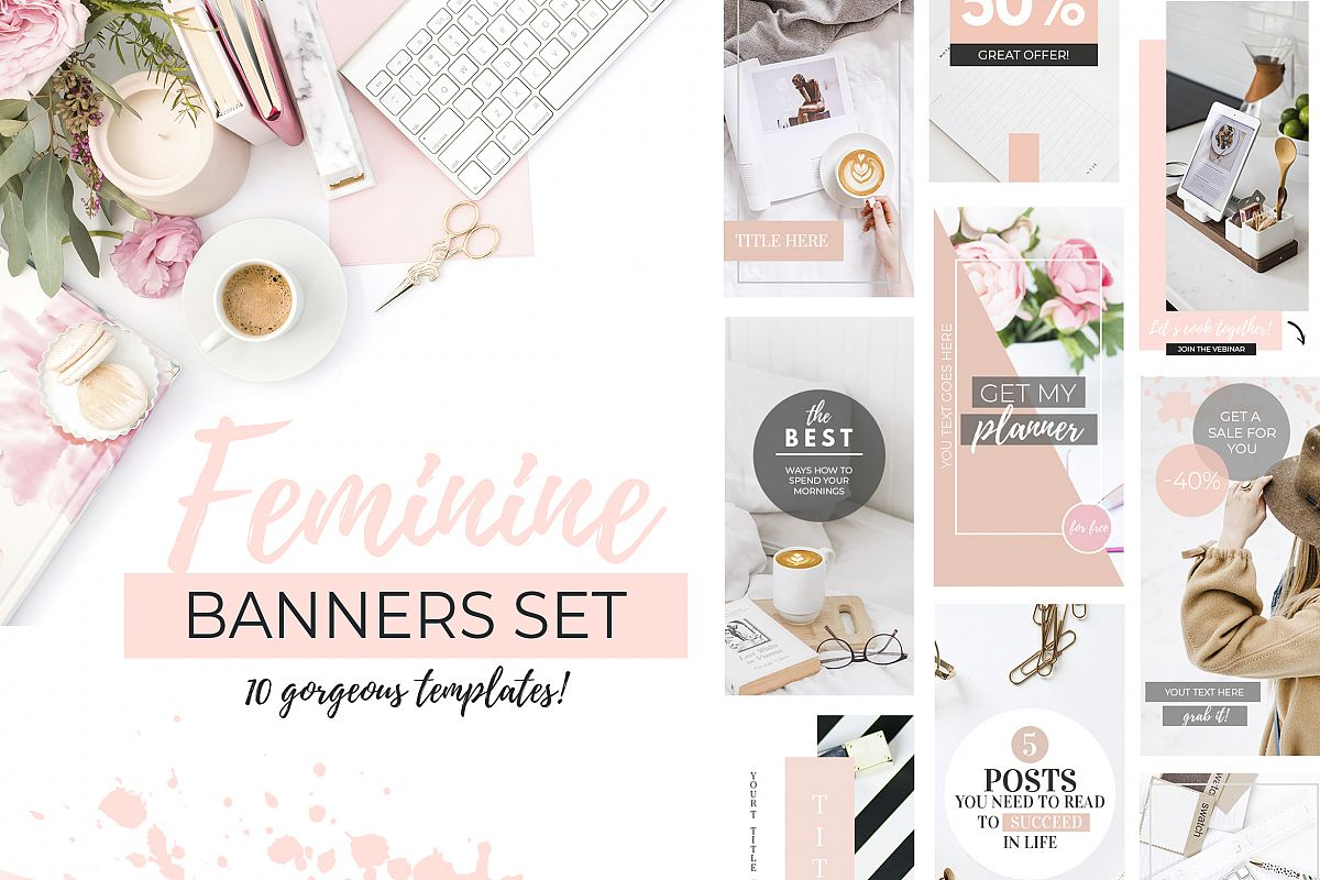 10 Banners for Blog or Pinterest example image 1