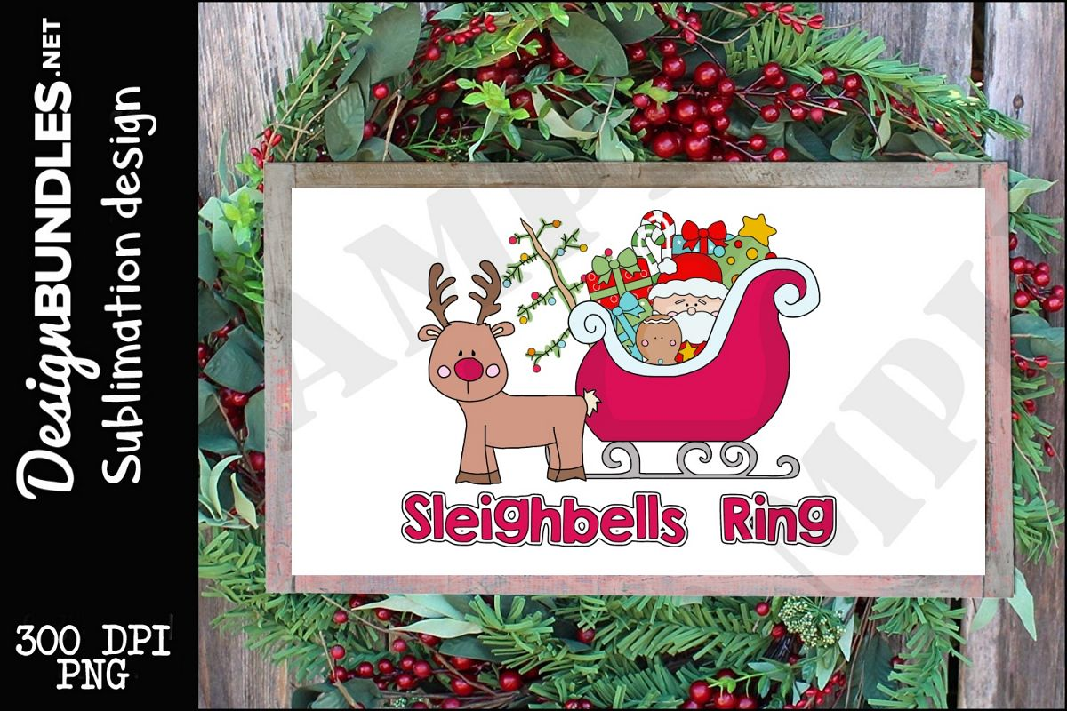 Sleighbells Ring Sublimation Design example image 1