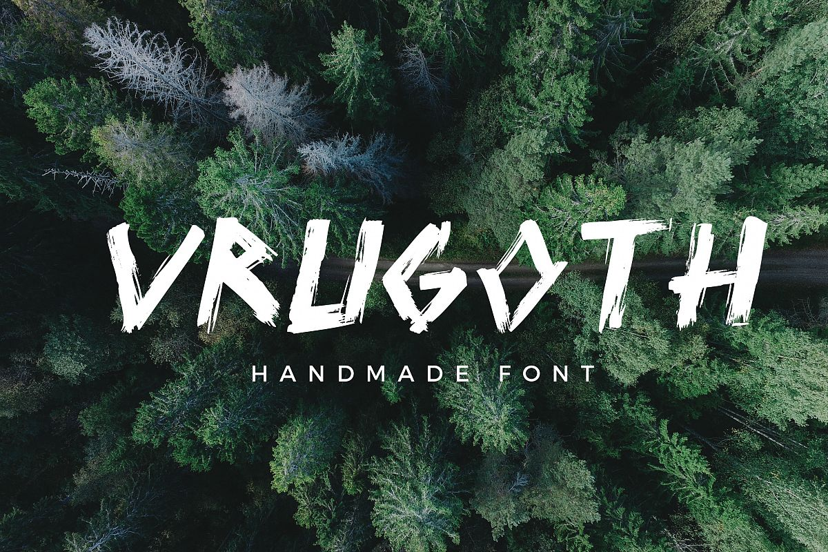 Vrugoth - Handmade Font example image 1
