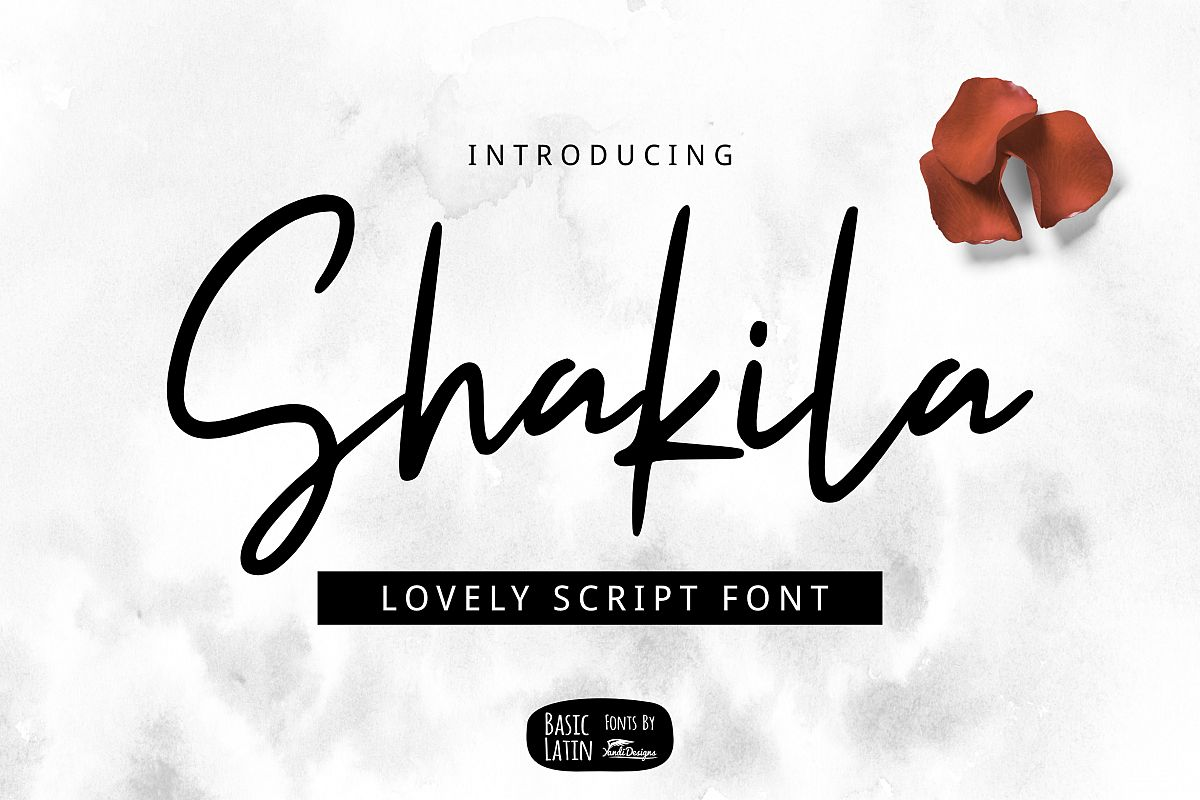 Shakila Script Font example image 1