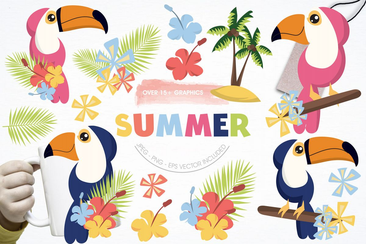 Summer Cute Graphics example image 1