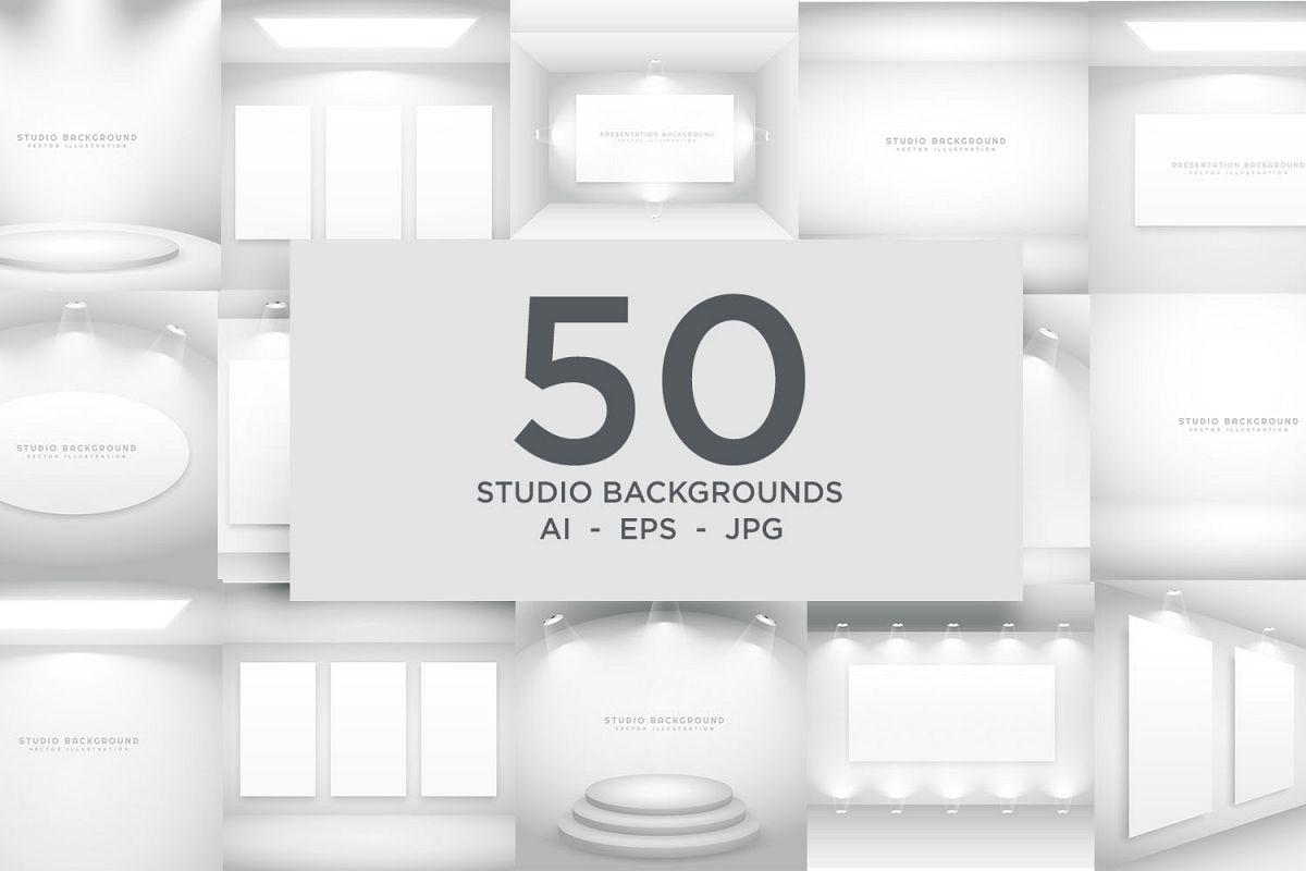 Studio Background Bundle - 50 Vector Designs example image 1