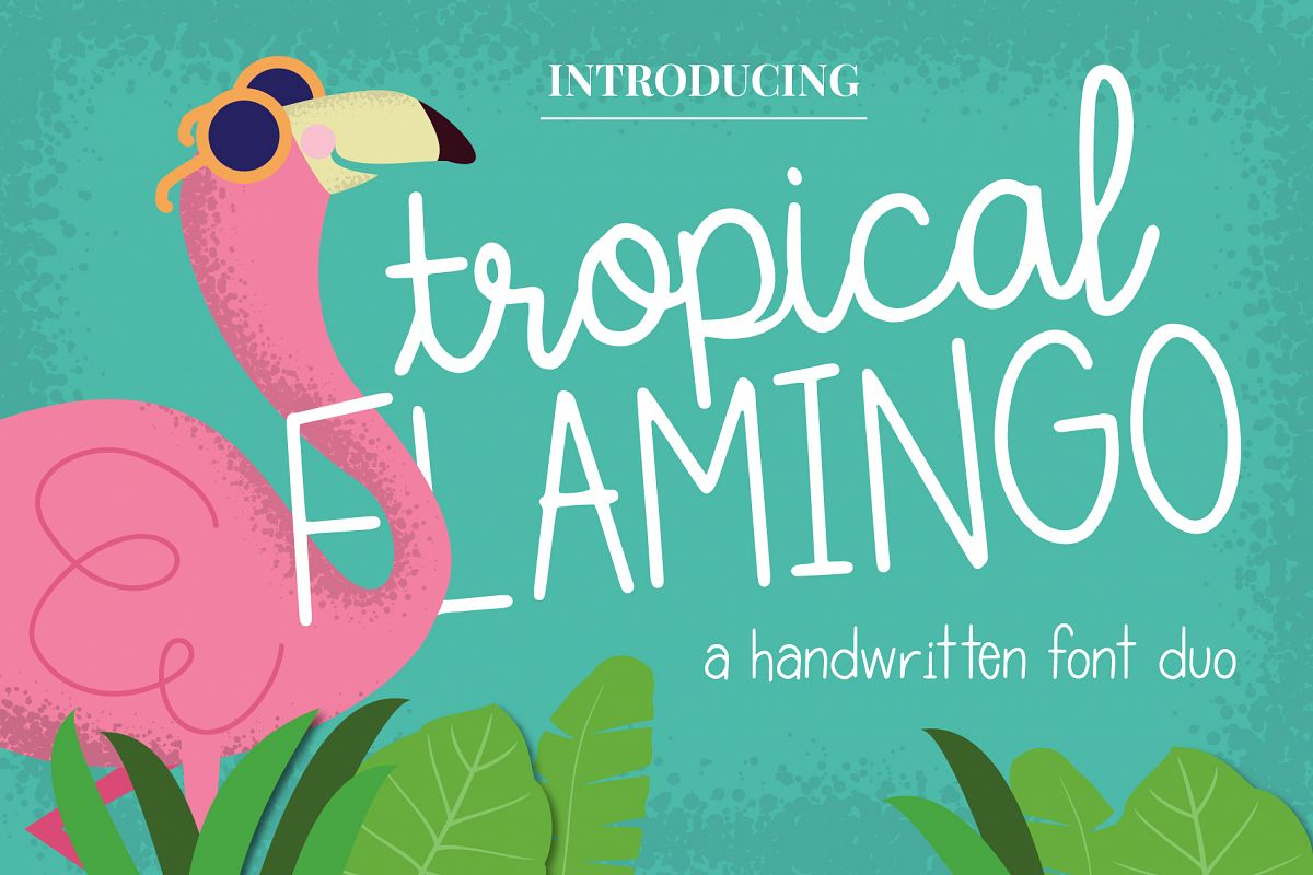 Tropical Flamingo Font Duo example image 1