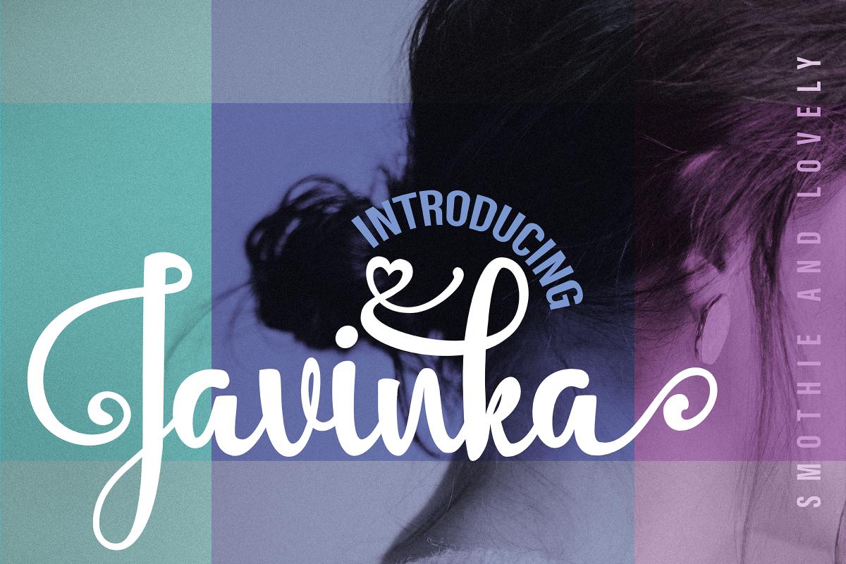 Javinka font example image 1